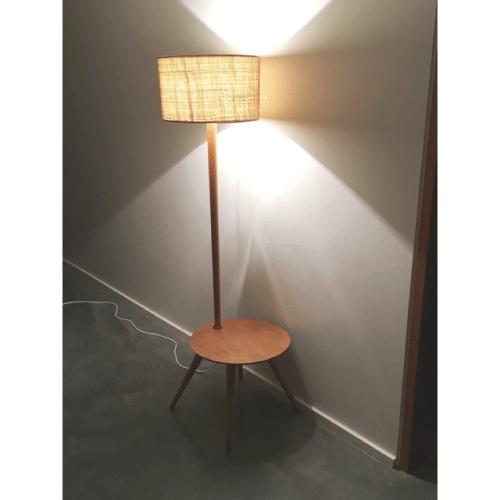 Retro-Atomic-Midcentury-1950s-Coffee-Table-&-Light