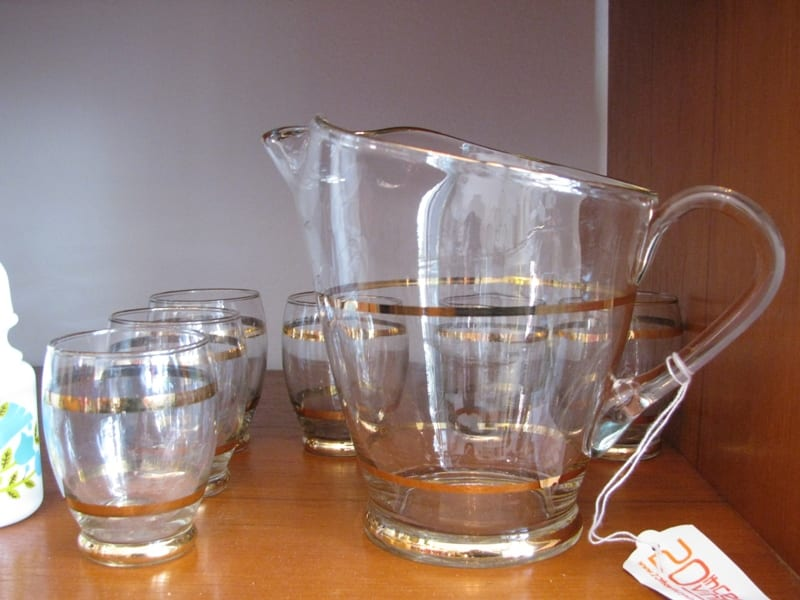 1950s jug amp 6 glasses 20th century vintage