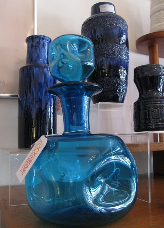 Blue Italian Decanter
