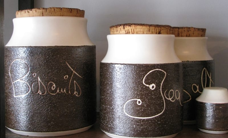 Hanstan canisters and salt & pepper shakers