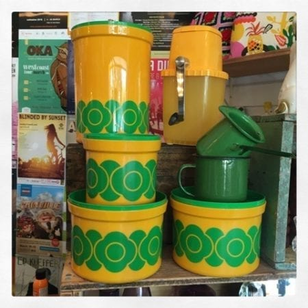 1970s Plastic Decor Canister