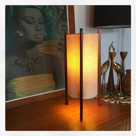 Atomic Mid Century Rocket Table Lamp