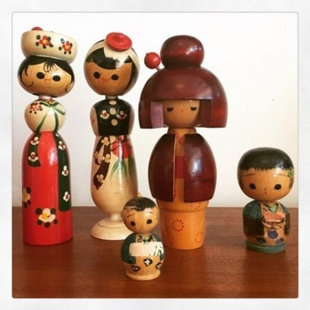 Vintage Kokeshi Dolls