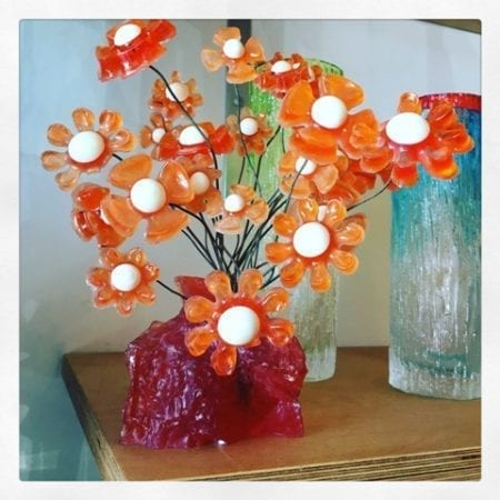 Kitsch Crystal Craft Flowers