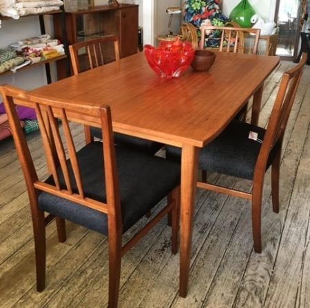 Mid Century Dining Table & Chairs by Gordon Russell