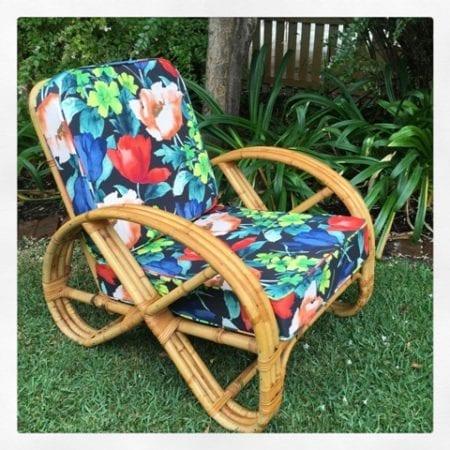 Vintage Cane Pretzel Chair