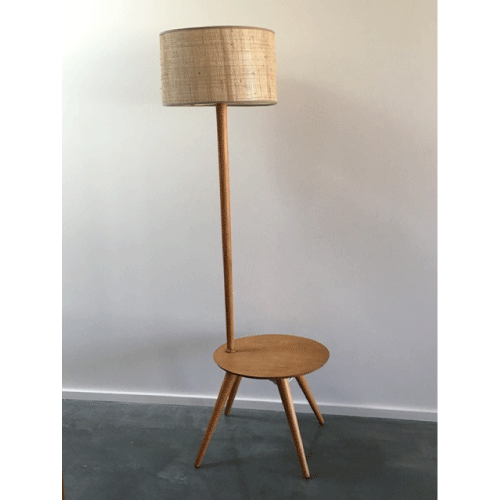 1950s Atomic Midcentury 1950s Coffee Table And Light