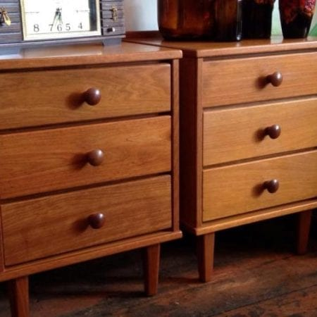 Hans Borg Mid Century Bedside Drawers