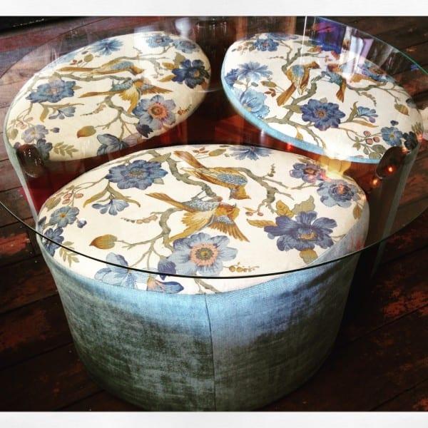 Mid Century TH Brown Fondue Coffee Table
