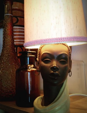 1950s Vintage Barsony Style Lady Table Lamp