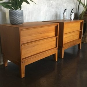 Mid Century Bedside Tables - Drawers