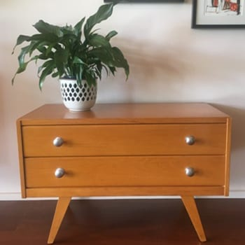 1950s Vintage Blondewood Lowboy Drawers