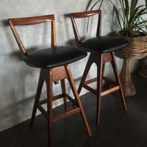 Mid Century TH Brown Bar Stools