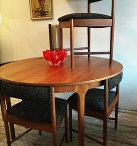 Mid Century McIntosh Dining Chairs & Table