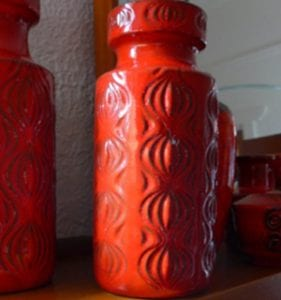 West German Ceramics Red