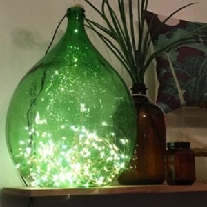 Vintage Italian Demijohn with Seed lights