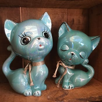 Kitsch Lustre Ceramic Cats