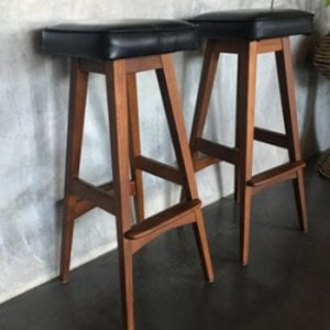 Mid Century Teak Bar Stools by Macrob