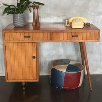 Mid Century Vintage Console Table Study Desk