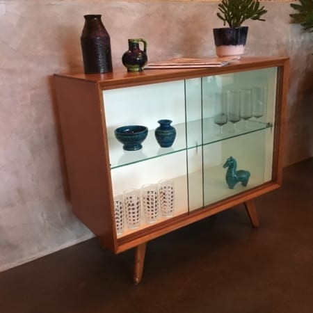 Mid Century Retro Display Cabinet left side view