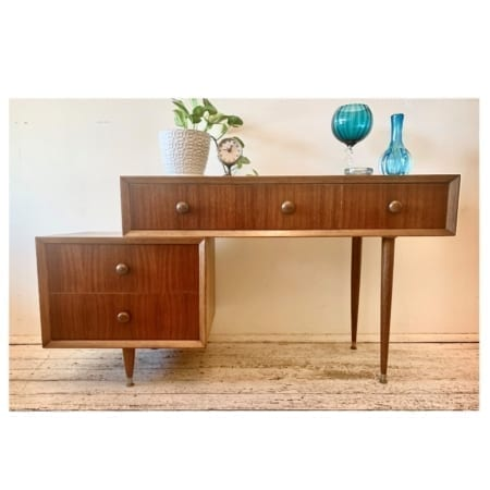 Mid century Console Drawers | 20th Century Vintage