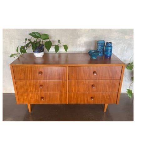 Mid Century Hans Borg Low Boy Drawers | 20th Century Vintage