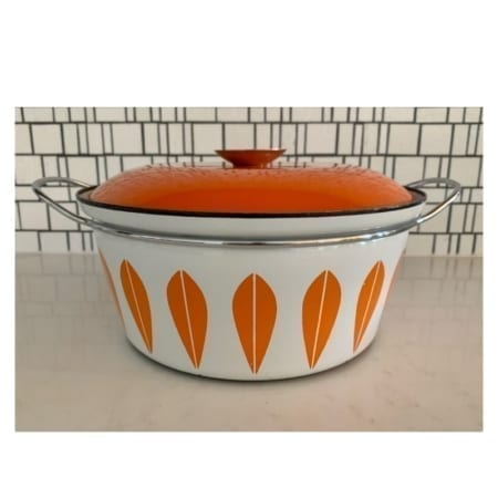 Cathrineholm Enamelware Casserole Dish | 20th Century Vintage