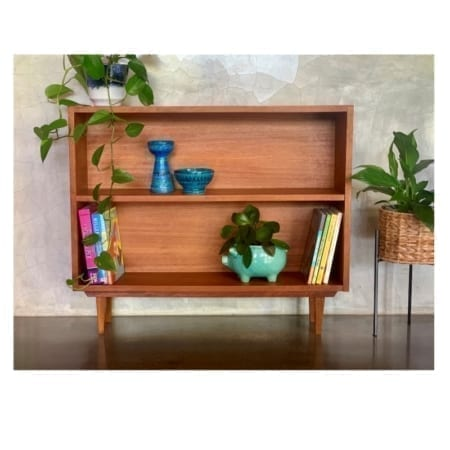 Mid Century Bookcase Solid Timber