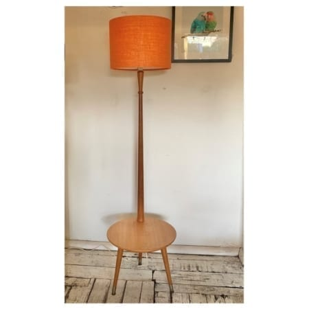 Mid Century Standard Lamp & Coffee Table Combination