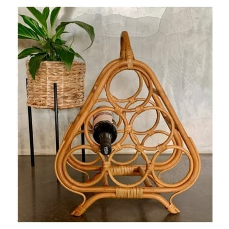 Vintage Cane Wine Rack | 20th Century Vintage