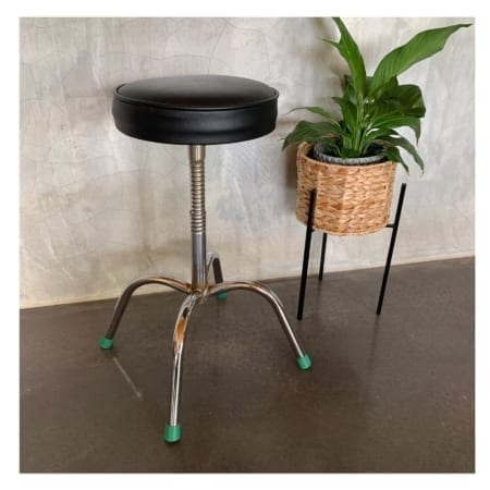 Vintage Chrome & Vinyl Stool