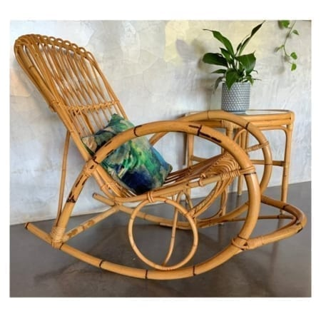 Mid Century Cane Rocking Chair | 20th Century Vintage