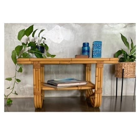 Mid Century Cane Coffee Table | 20th Century Vintage