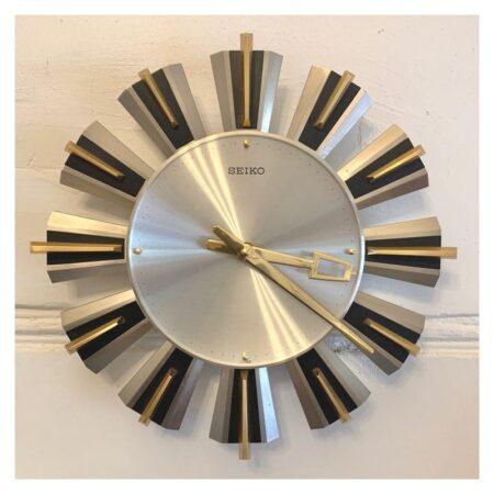 Mid Century Seiko Starburst Wall Clock | 20th Century Vintage