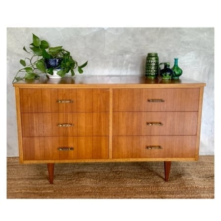Mid Century Low Boy Drawers | 20th Century Vintage