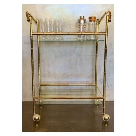 Vintage Hollywood Regency Bar Cart | 20th Century Vintage