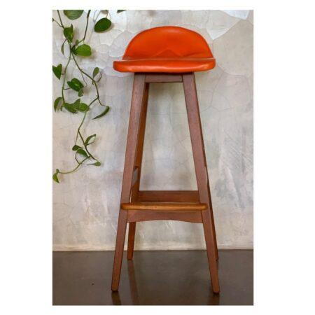 Orange Macrob Mid Century Bar Stool | 20th Century Vintage